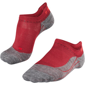 Falke TK5 Calcetines de trekking invisibles Mujer, rojo/gris